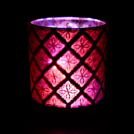 Red Shadowfire Single Wick Lit View