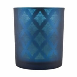 Blue Shadowfire Single Wick Front View