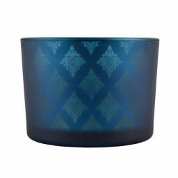 Blue Shadowfire Triple Wick Front View
